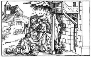 Der Molkenzauber - Holzschnitt 1517