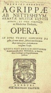 Vergrößerung der Titelseite von « De occulta philosophia »