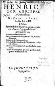 Vergrößerung der Seite « De occulta philosophia »