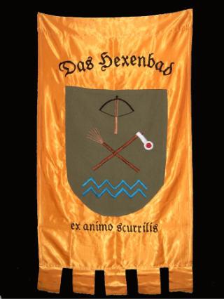 Hier wird das Wappen vom Hexenbad erklärt.